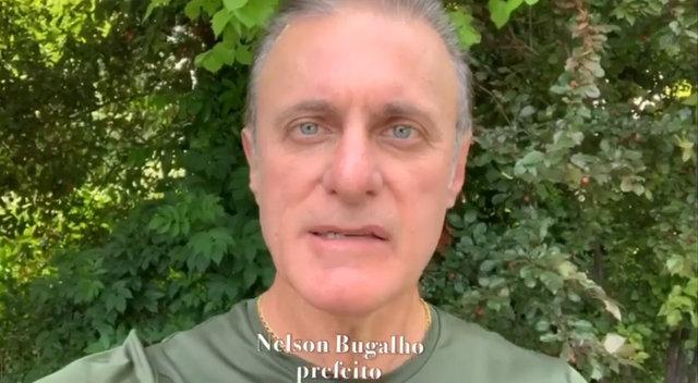 Apesar de estar de férias,  Bugalho fez questão de gravar vídeos para comentar sobre ações da Prefeitura
